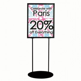 Double Sided 22x28 2 Tiers Black Eco Info Board Floor Standing Heavy Duty Poster Sign Poster Size